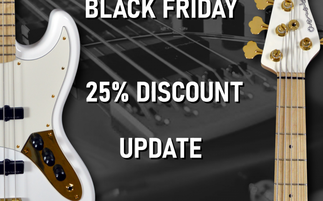 BLACK FRIDAY 25% DISCOUNT UPDATE